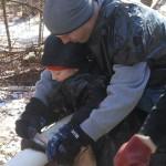 Zack and David fleshing Feb '12