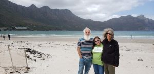 With Rabbi Emma Gottlieb at Hout Bay